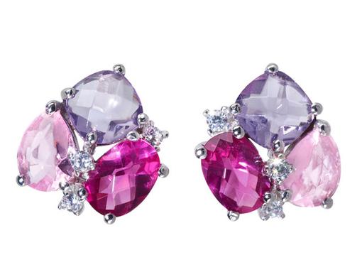 Jewelry Trends 2014: amor earrings in berry tones – © amor