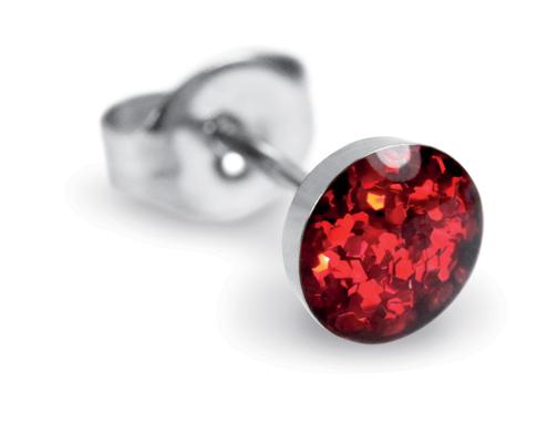 День Святого Валентина - подарки для нее: Studex Sensitive сверкающий красный, 5 мм, хирургическая нержавеющая сталь