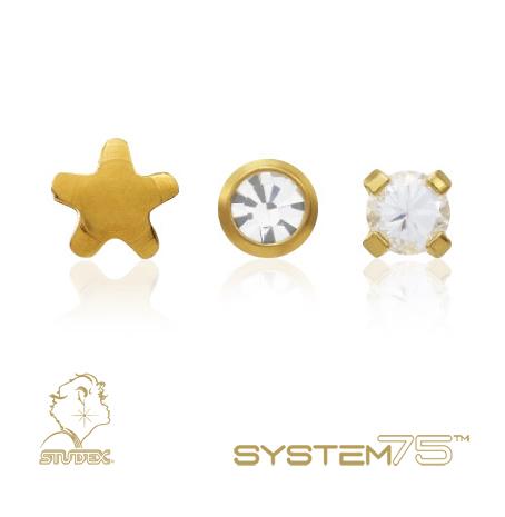 Studex System 75 моделі з позолотою
